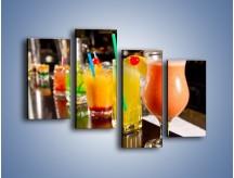 Obraz na płótnie – Barmańskie drinki – czteroczęściowy JN433W2