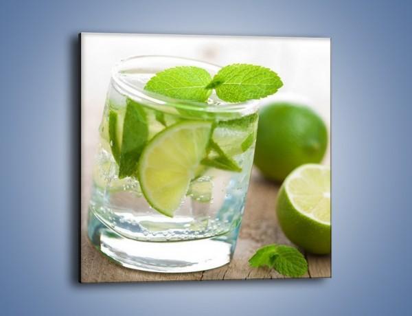 Obraz na płótnie – Limonkowy napój – jednoczęściowy kwadratowy JN262