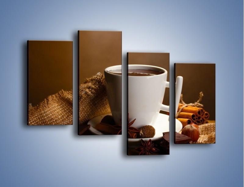 Obraz na płótnie – Gorąca czekolada z dodatkami – czteroczęściowy JN452W2