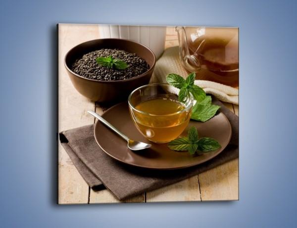 Obraz na płótnie – Filiżanka herbaty na poprawę humoru – jednoczęściowy kwadratowy JN264