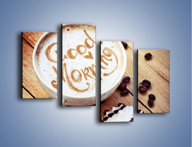 Obraz na płótnie – Kawa z bezą – czteroczęściowy JN605W2