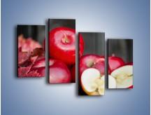 Obraz na płótnie – Czerwone jabłka późną jesienią – czteroczęściowy JN619W2