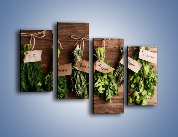Obraz na płótnie – Świeże zioła w kuchni – czteroczęściowy JN638W2