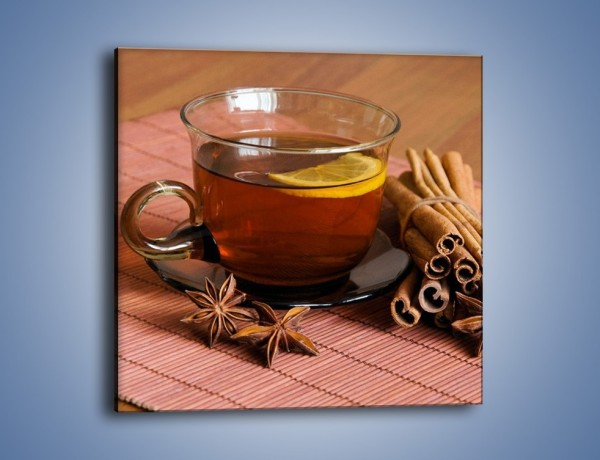 Obraz na płótnie – Rozgrzewająca filiżanka herbaty – jednoczęściowy kwadratowy JN266
