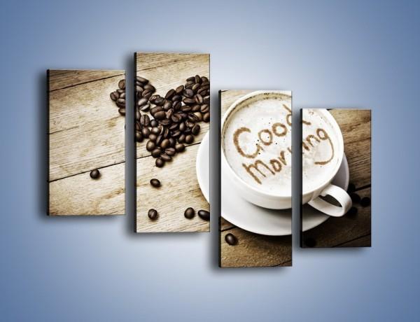 Obraz na płótnie – Z miłości do kawy – czteroczęściowy JN710W2