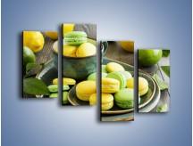 Obraz na płótnie – Cytrynowo-limonkowe ciasteczka – czteroczęściowy JN724W2