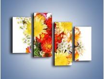 Obraz na płótnie – Bukiecik kwiatów z ogródka – czteroczęściowy K118W2
