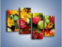 Obraz na płótnie – Bukiet pełen soczystych kolorów – czteroczęściowy K461W2