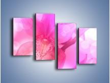 Obraz na płótnie – Budzący dzień w różowym kwiecie – czteroczęściowy K487W2