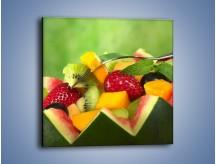 Obraz na płótnie – Arbuzowa misa z owocami – jednoczęściowy kwadratowy JN274