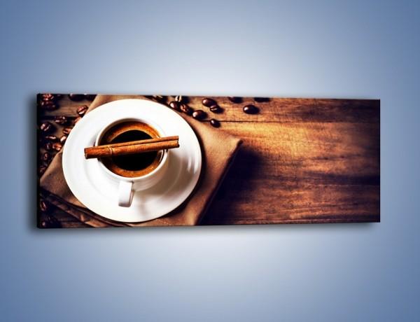 Obraz na płótnie – Trudne rozmowy przy kawie – jednoczęściowy panoramiczny JN719