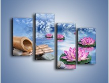 Obraz na płótnie – Baśniowy świat kwiatów – czteroczęściowy K624W2