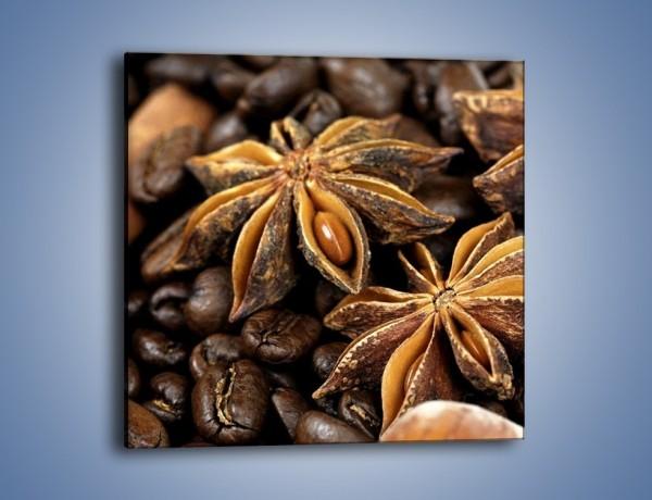 Obraz na płótnie – Goździkowe kwiaty z kawą – jednoczęściowy kwadratowy JN275