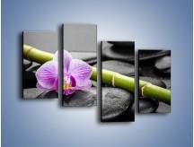 Obraz na płótnie – Bambus czy storczyk – czteroczęściowy K686W2