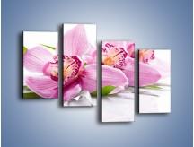 Obraz na płótnie – Biały kwiatowy stół – czteroczęściowy K688W2