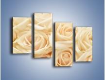 Obraz na płótnie – Bukiet herbacianych róż – czteroczęściowy K710W2