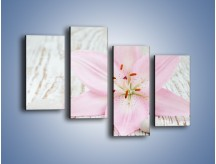 Obraz na płótnie – Cała słodycz w lilii – czteroczęściowy K727W2
