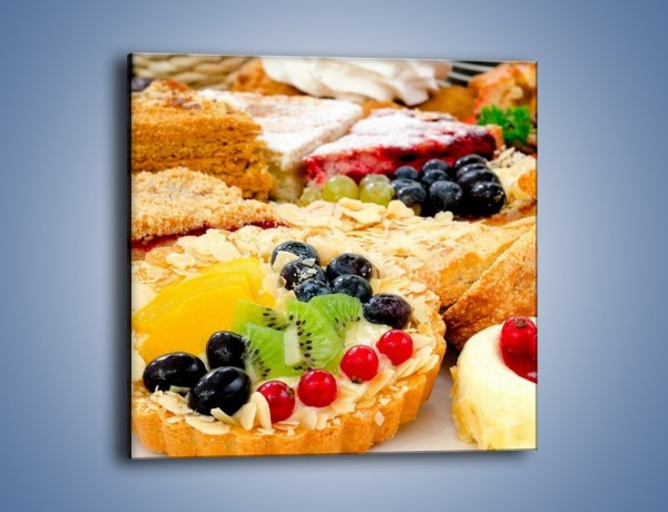 Obraz na płótnie – Słodkości z cukierni – jednoczęściowy kwadratowy JN276