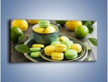 Obraz na płótnie – Cytrynowo-limonkowe ciasteczka – jednoczęściowy panoramiczny JN724