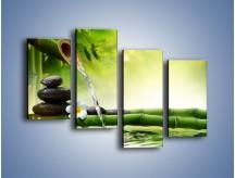 Obraz na płótnie – Bambus i źródło wody – czteroczęściowy K930W2