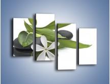 Obraz na płótnie – Artystyczna kompozycja z kwiatem – czteroczęściowy K968W2