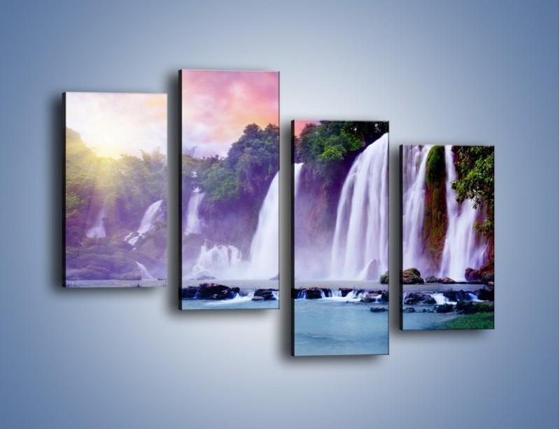 Obraz na płótnie – Wodospady jak z bajki – czteroczęściowy KN026W2