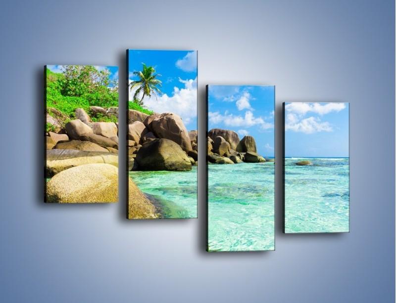 Obraz na płótnie – Lazurowa woda w tropikach – czteroczęściowy KN035W2