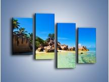 Obraz na płótnie – Bezludna wyspa i ja – czteroczęściowy KN1058W2