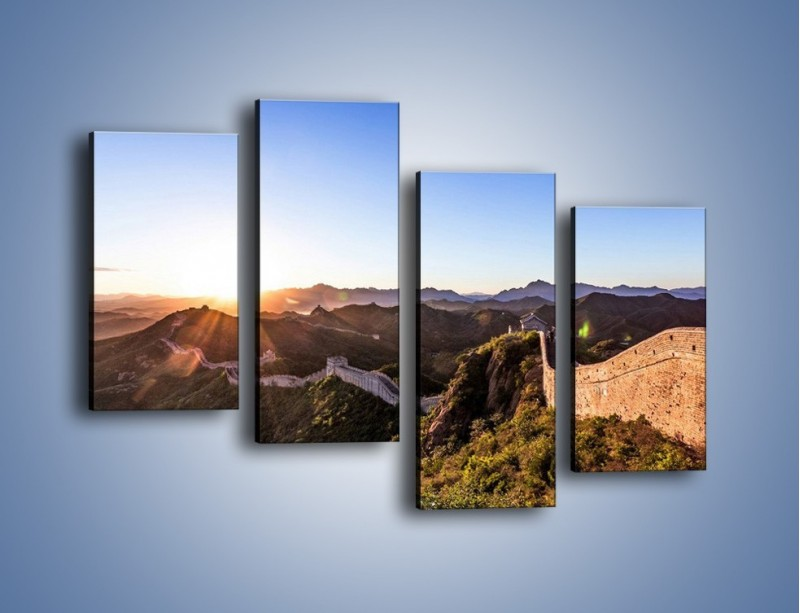Obraz na płótnie – Za górami za lasami – czteroczęściowy KN1084AW2