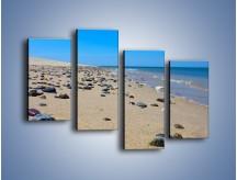Obraz na płótnie – Całe morze kamyczków – czteroczęściowy KN1086AW2