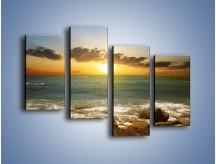 Obraz na płótnie – Brzegiem w stronę morza – czteroczęściowy KN1092AW2