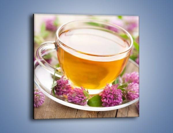 Obraz na płótnie – Herbata z kwiatami – jednoczęściowy kwadratowy JN283