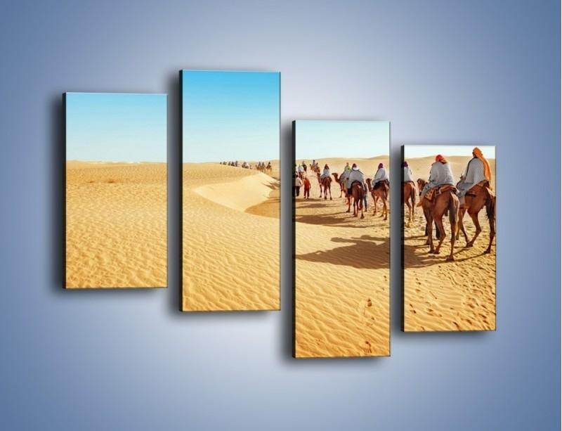 Obraz na płótnie – Szła karawana przez pustynię – czteroczęściowy KN1173AW2