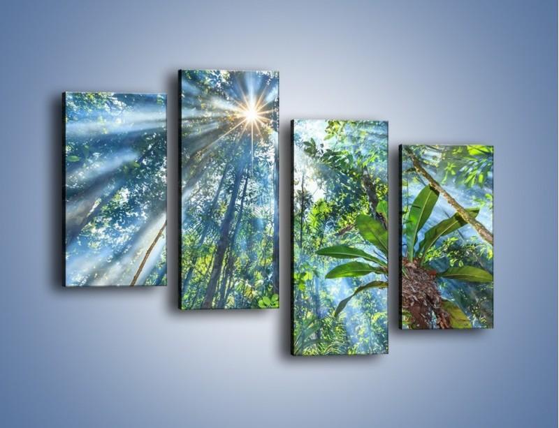 Obraz na płótnie – Dyzio marzyciel i drzewa – czteroczęściowy KN1189AW2