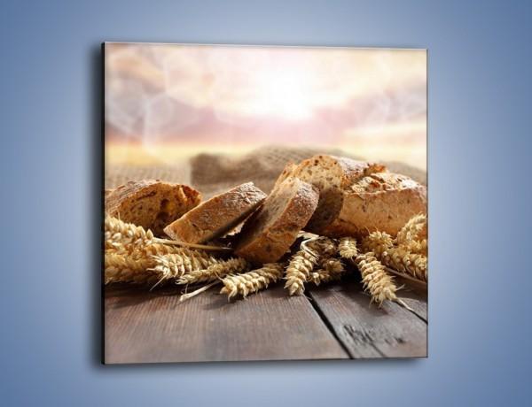 Obraz na płótnie – Świeży pszenny chleb – jednoczęściowy kwadratowy JN287
