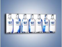 Obraz na płótnie – Czysta wódka w butelkach – jednoczęściowy panoramiczny JN748