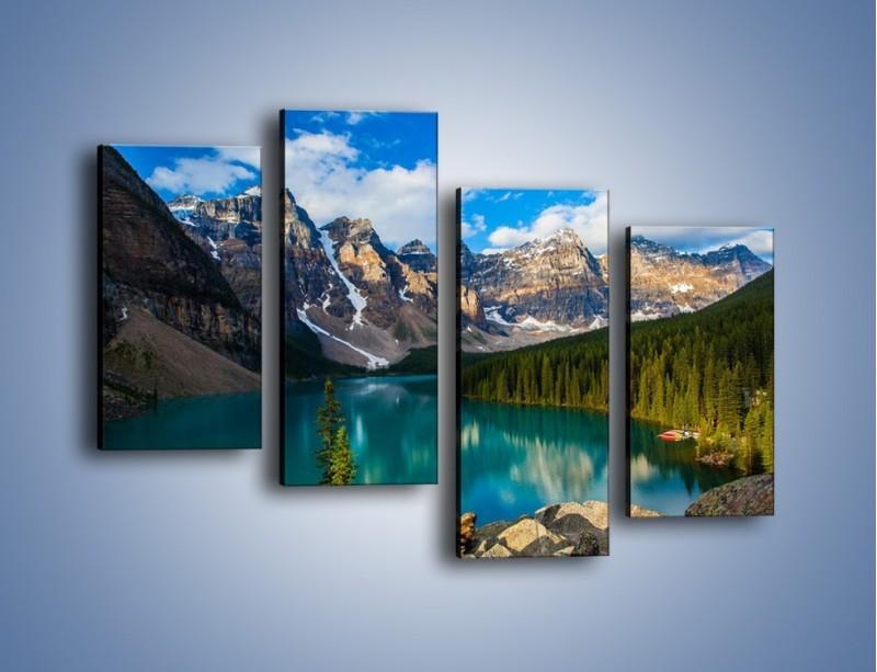 Obraz na płótnie – Spokój w górach – czteroczęściowy KN1258AW2