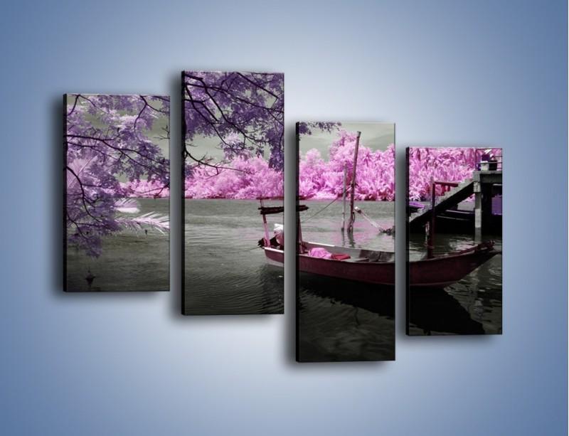 Obraz na płótnie – Krajobraz jak z japonii – czteroczęściowy KN1277AW2