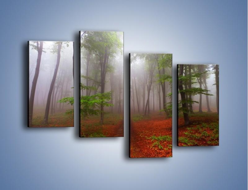 Obraz na płótnie – Budzący się lasek – czteroczęściowy KN1285AW2
