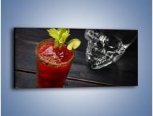 Obraz na płótnie – Czerwony drink z selerem – jednoczęściowy panoramiczny JN751