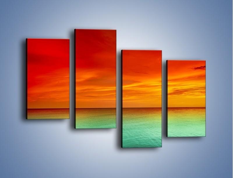 Obraz na płótnie – Horyzont w kolorach tęczy – czteroczęściowy KN1303AW2