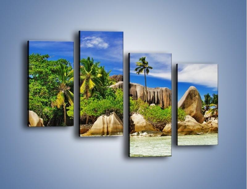 Obraz na płótnie – Tropiki i ich wysokości – czteroczęściowy KN1306AW2