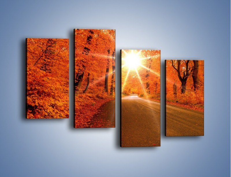 Obraz na płótnie – Droga pełna słońca – czteroczęściowy KN160W2