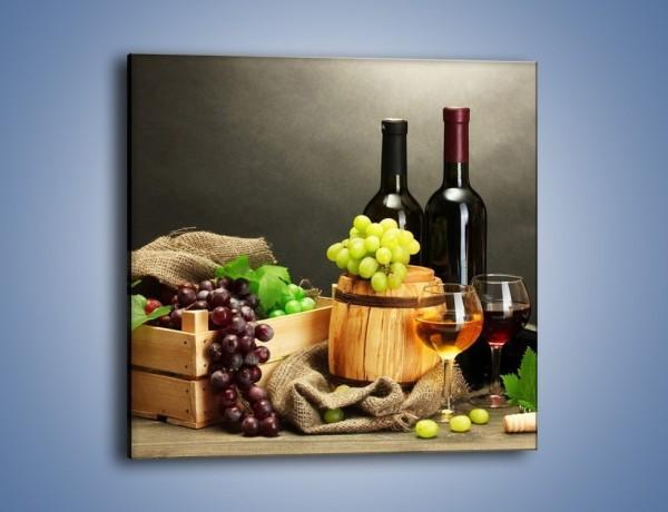 Obraz na płótnie – Wytrawne smaki wina – jednoczęściowy kwadratowy JN289