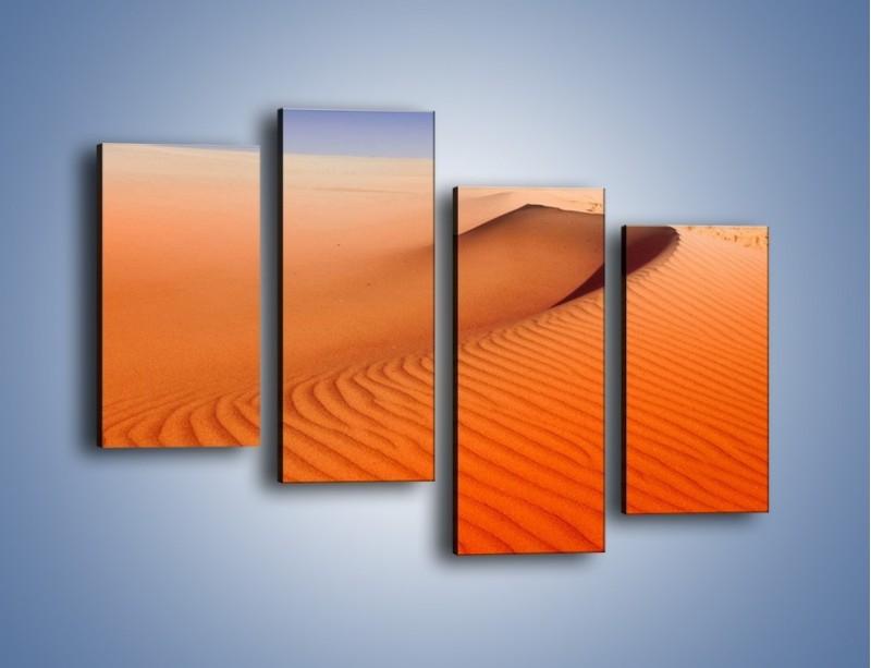 Obraz na płótnie – Pustynny żar – czteroczęściowy KN305W2