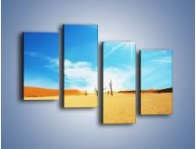 Obraz na płótnie – Błękit nieba i słońce w ziemi – czteroczęściowy KN331W2