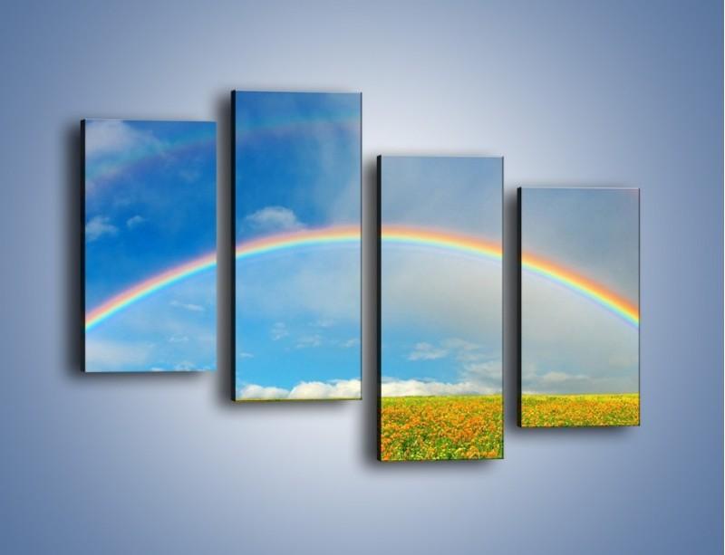 Obraz na płótnie – Urok kolorowej tęczy – czteroczęściowy KN406W2