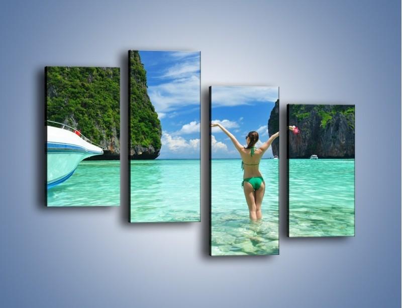 Obraz na płótnie – Udane wakacje w ciepłych krajach – czteroczęściowy KN530W2