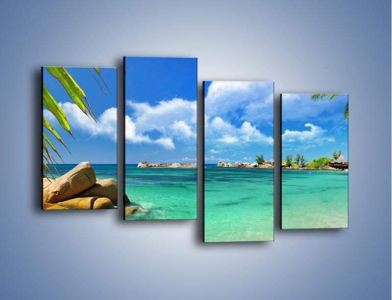 Obraz na płótnie – Tropikalna wyspa z katalogu – czteroczęściowy KN565W2