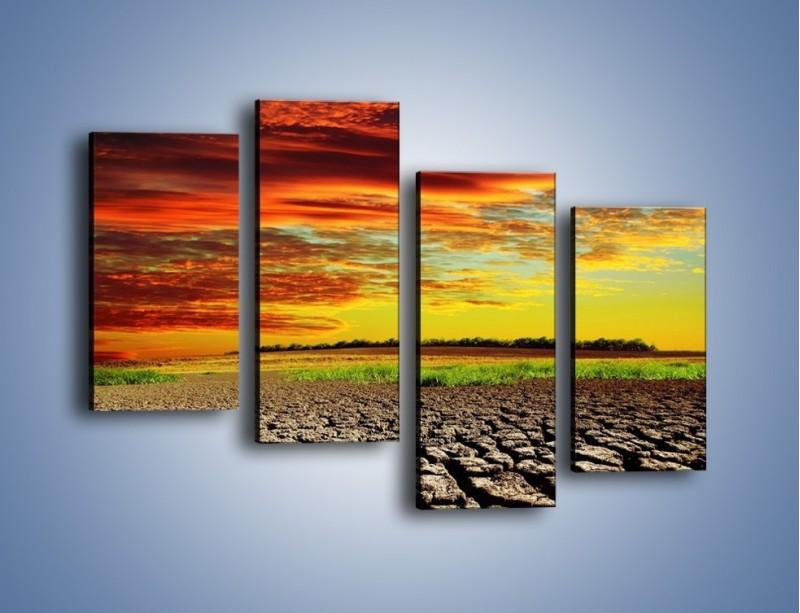 Obraz na płótnie – Spękane chmury i ziemia – czteroczęściowy KN602W2